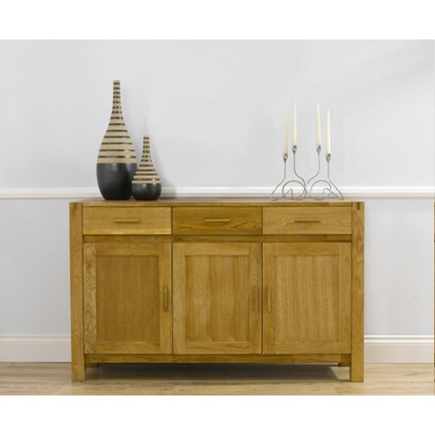 Verona Solid Oak Medium Fingerjoint Style Sideboard