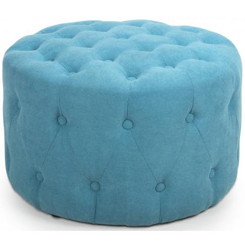 Verona Small Round Turquoise Blue Pouffe