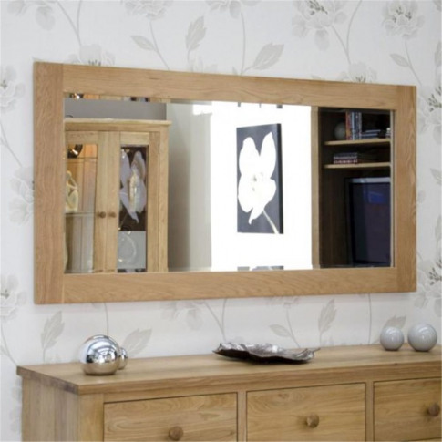 Oak Wall Mirror 1500 X 750