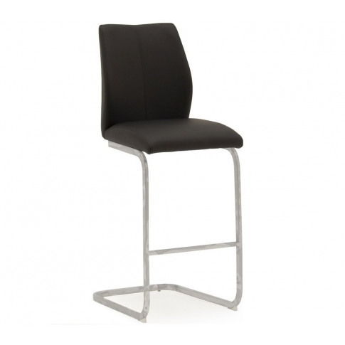 Elis Black Faux Leather Bar Stool Chair