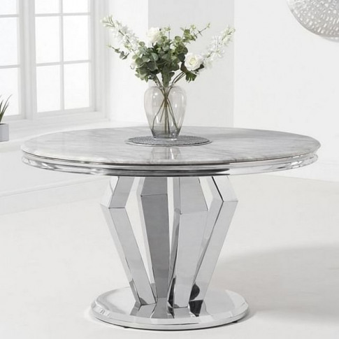 Vinceza 130cm Round Marble Dining Table
