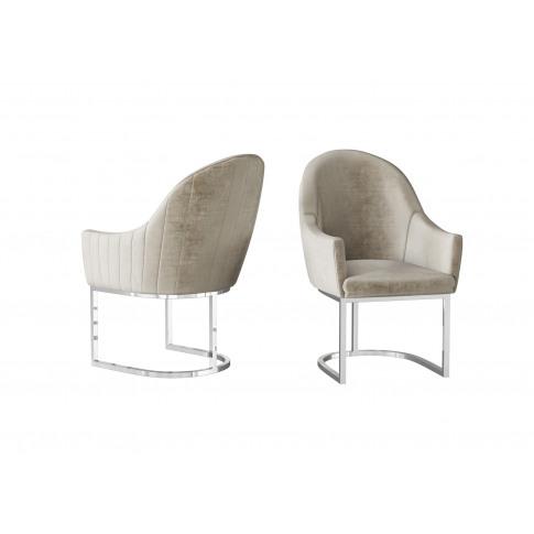 Fairmont Viola Mink Velvet Dining Chair