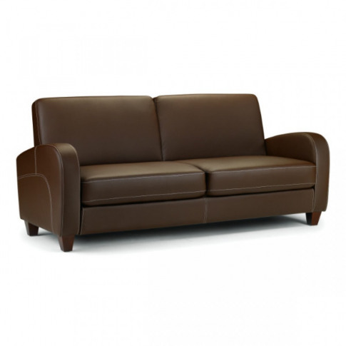 Julian Bowen Vivo Chestnut Brown Leather 3 Seater Sofa