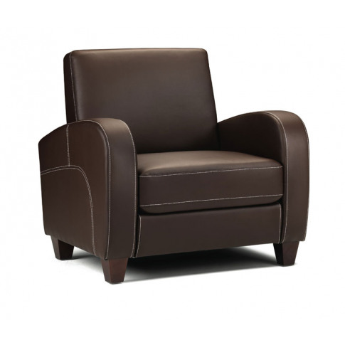 Julian Bowen Vivo Chestnut Brown Leather Armchair