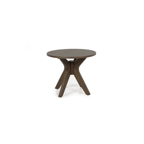 Serene Waltham Walnut Round Lamp Table