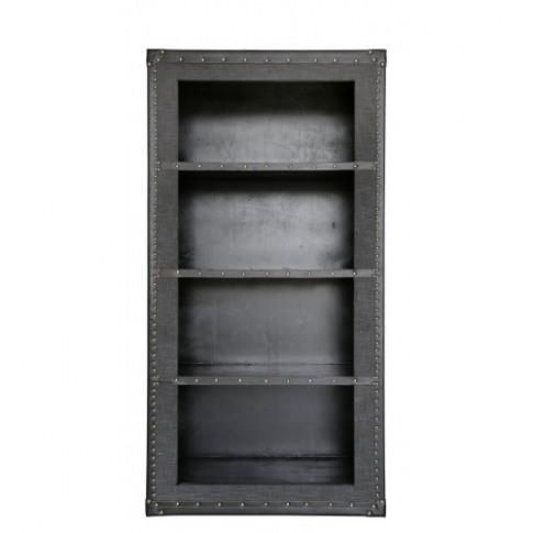 Brook Grey Wooden Bookcase Trunk