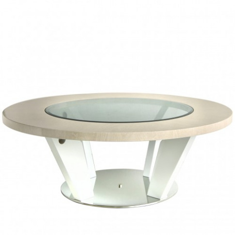 Evelyn Light Walnut Round Wooden Coffee Table