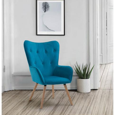 Willow Sapphire Fabric Armchair