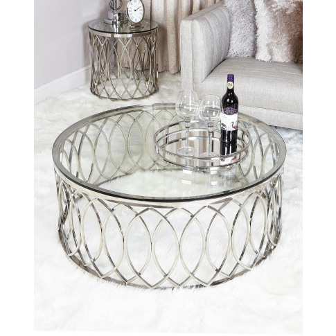 Wilma Chrome And Glass Coffee Table