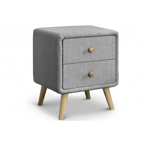 Windsor Grey Fabric Bedside Table