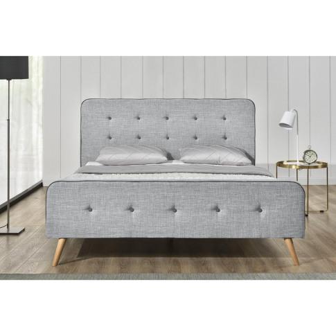 Windsor Grey Fabric King Bed