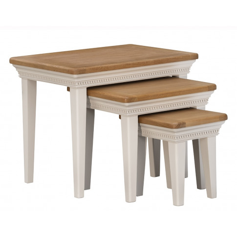 Winchester Silver Oak Nest Of Tables