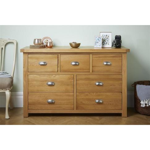 Woburn Oak 4+3 Drawer Chest