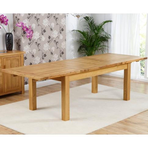Rustique Classical Solid Oak 180cm Dining Table Exte...