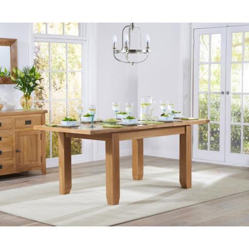 York 130cm Oak Ext. Dining Table