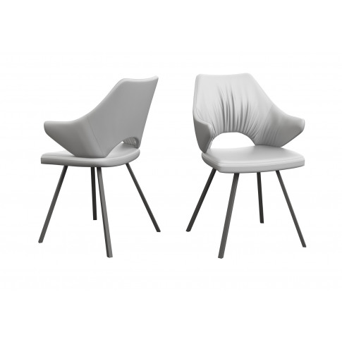 Fairmont Zola White Faux Leather Dining Chair