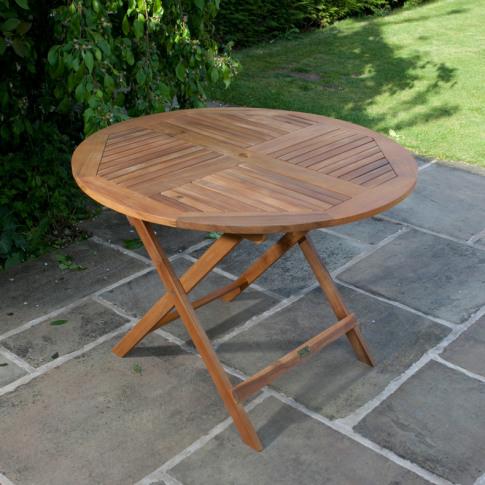 BillyOh Windsor Garden Table - 1.0m Round Folding - ...