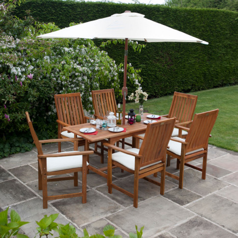 Billyoh Windsor 1.2m-1.6m 4/6 Seat Rectangular Exten...