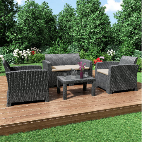 Billyoh Florence 4 Piece Rattan Sofa Set - 4 Piece R...