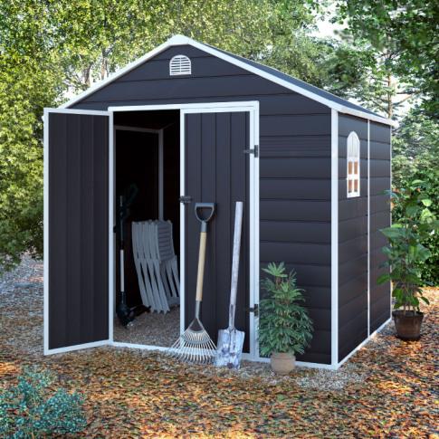 BillyOh Ashford Plastic Garden Storage Shed Inc Foun...