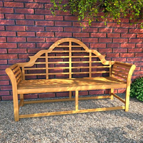 BillyOh Windsor 3 Seater Lutyens Wooden Garden Bench...
