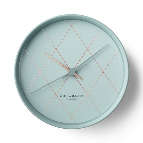Georg Jensen Henning Koppel Clock Light Blue & Copper