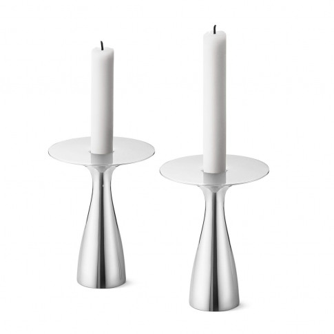 Georg Jensen Alfredo Candleholder Medium Set Of 2