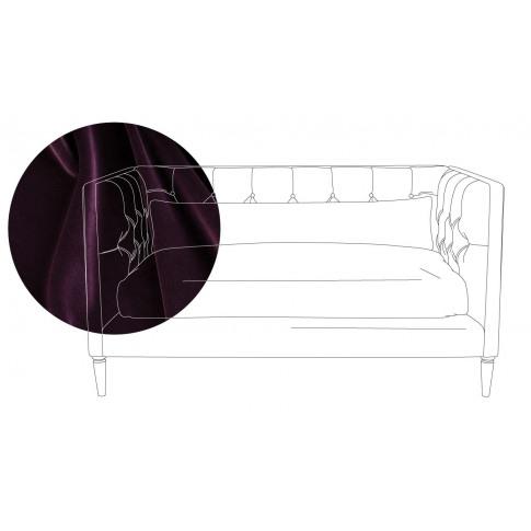 Heal's Balmoral 2 Seater Sofa Velvet Grape Black Feet