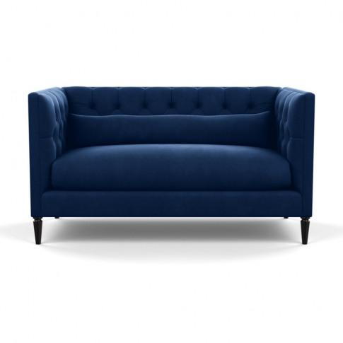 Heal's Balmoral 2 Seater Sofa Velvet Midnight Black ...