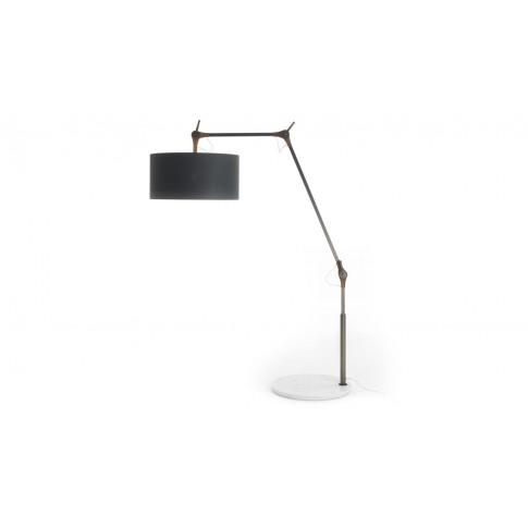 Porada Gary Small Floor Lamp Walnut Marble Base