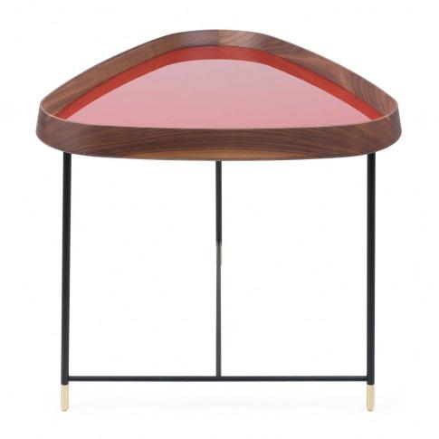 Porada Fritz 3 Triangular Side Table Walnut Granata ...