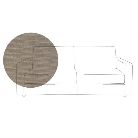 Heal's Nimbus 3 Seater Sofa Linen Gravel Black Feet