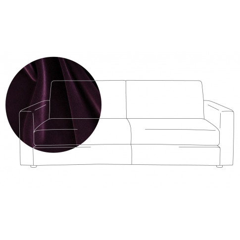 Heal's Nimbus 4 Seater Sofa Velvet Grape Black Feet