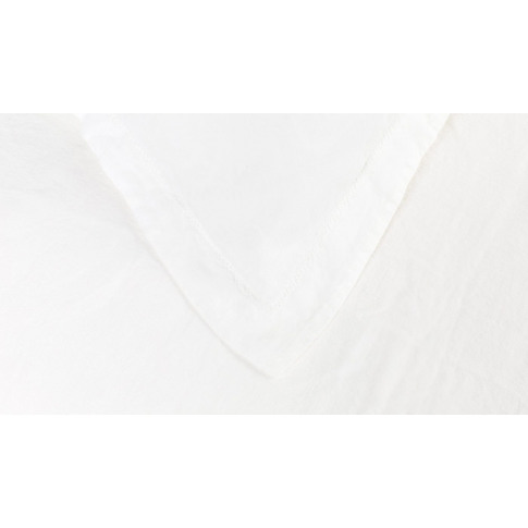 Heal's Washed Linen White Superking Fitted Sheet