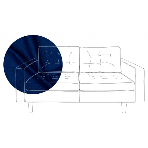 Heal's Hepburn 4 Seater Sofa St Moritz Wool Blue Nat...
