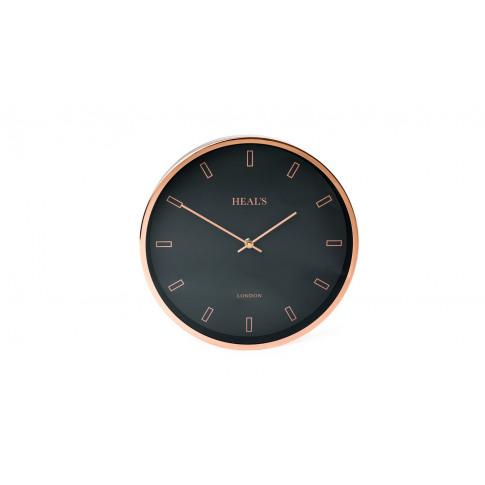 Heal's Heal'S Clock Black & Copper