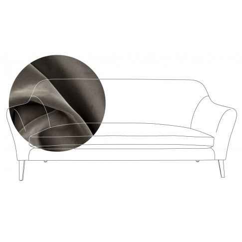 Heal's Wallis 3 Seater Sofa Velvet Charcoal Walnut Feet