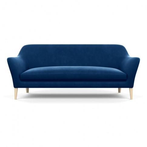 Heal's Wallis 4 Seater Sofa Velvet Petrol Natural Feet