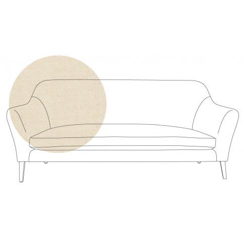 Heal's Wallis 3 Seater Sofa Linen Hessian Black Feet