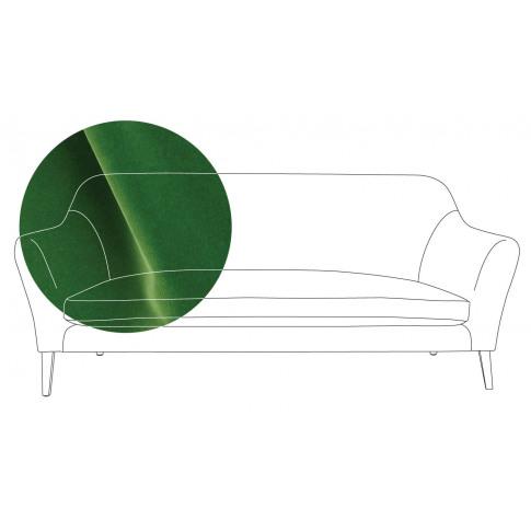 Heal's Wallis 3 Seater Sofa Varese Velvet Emerald Na...
