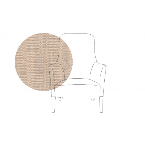 Pinch Pendel Armchair Broad Weave Pebble Walnut Feet