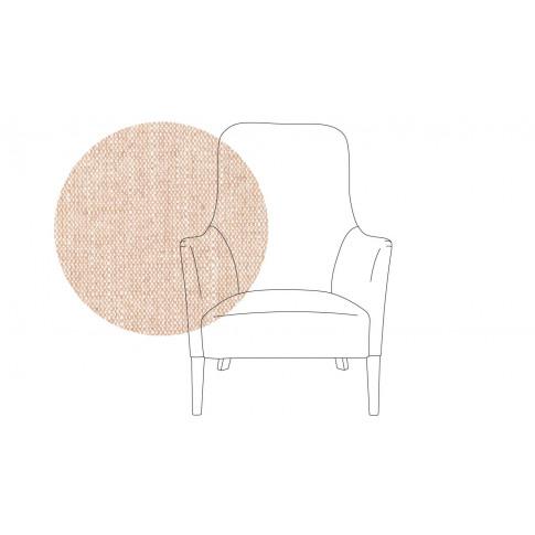 Pinch Pendel Armchair Broad Weave Putty Oak Feet