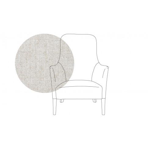 Pinch Pendel Armchair Broad Weave Tin Oak Feet