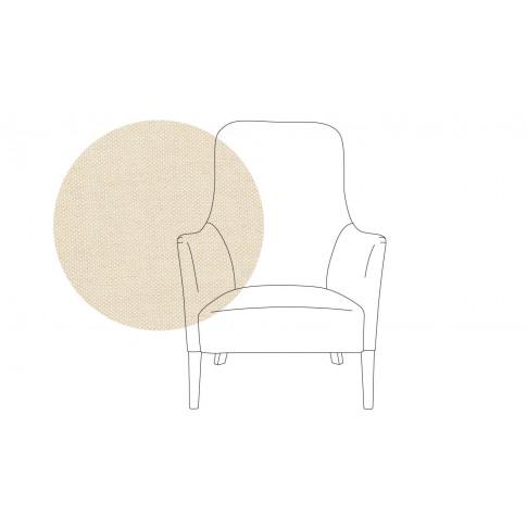 Pinch Pendel Armchair Linen Hessian Walnut Feet