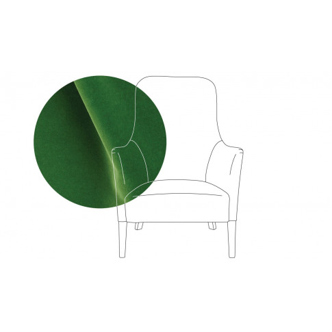 Pinch Pendel Armchair Varese Velvet Emerald Oak Feet