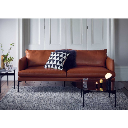 Heal's Matera 4 Seater Sofa Daino Leather Elephant G...