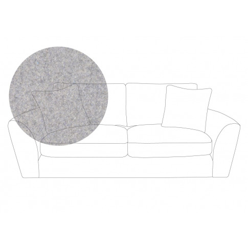 Heal's Snooze 4 Seater Sofa Wool Felt Wolf Black Feet