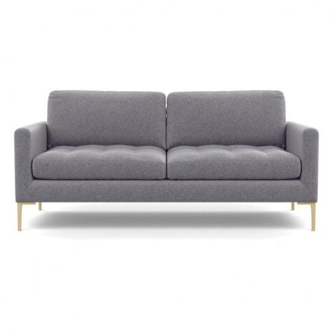 Heal's Eton 3 Seater Sofa Wool Felt Wolf Brass Feet