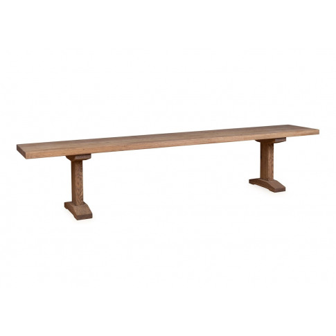 Heal's Lisbon Bench 240x35cm Grey Oak Natural Edge F...