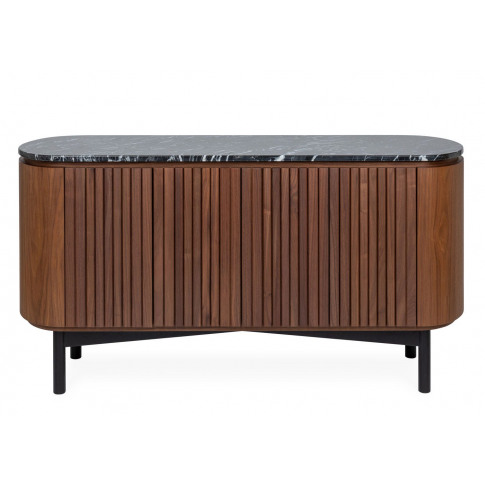 Heal's Remi Sideboard Large Walnut And Black Marble